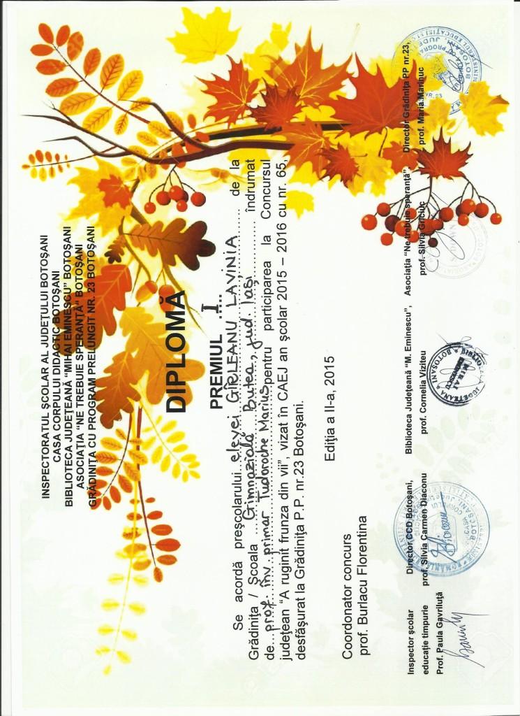 GIRLEANU LAVINIA - A ruginit frunza din vii