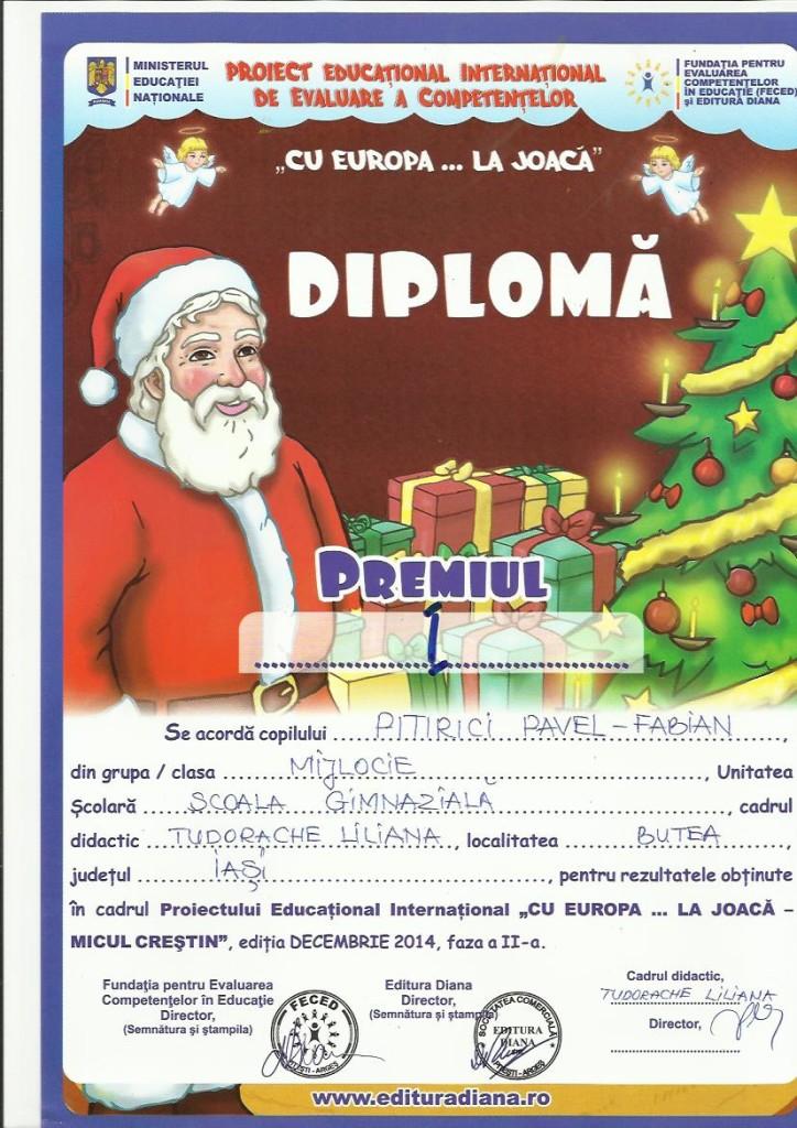 concurs Micul Crestin PITIRICI FABIAN