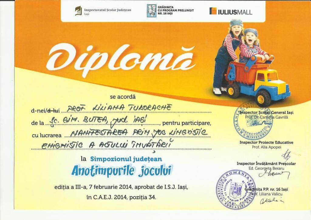 diploma anotimpurile jocului febr 2014