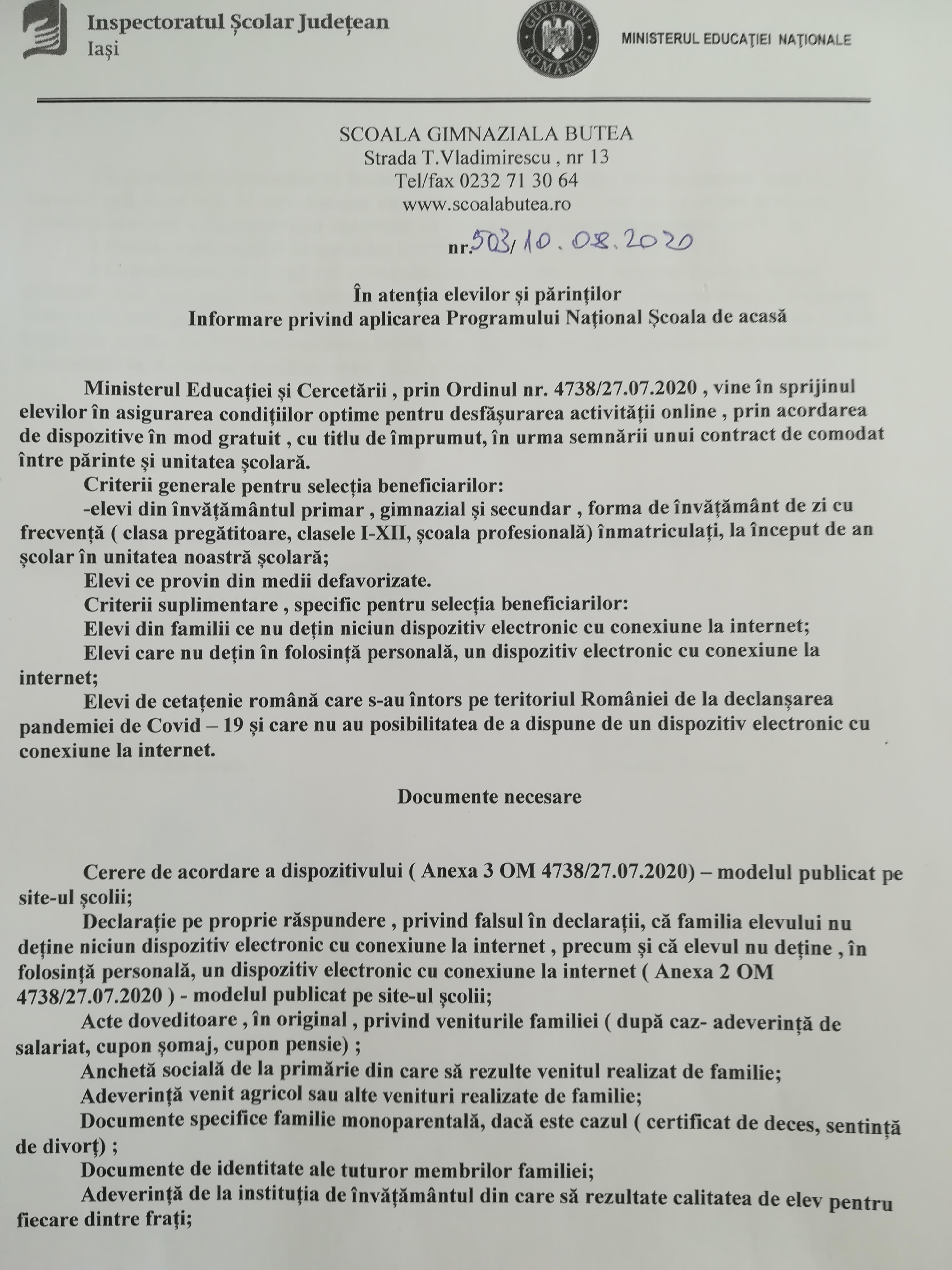 PG 1 SCOALA DE ACASA